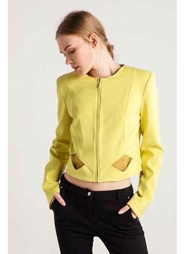 Love'n Fashion Paris Kısa Ceket Sarı